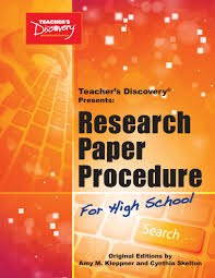 Advertising Research Paper Research Paper Procedure Teacher S Discovery