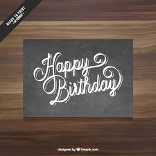 black happy birthday card vector free download