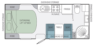 Caravan Floor Plan Layouts Jayco Starcraft Caravan 18 55 3 Eastern Caravans