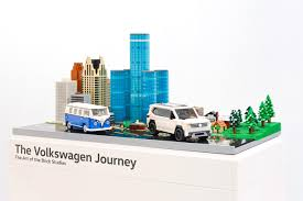 lego toyota tundra vw comes to chicago with a big set of lego blocks in tow
