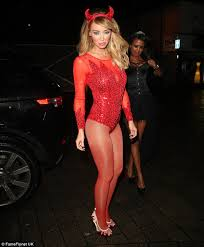 Pope Halloween Costume Lauren Pope Halloween 2012 Leg Avenue Rockin Red Devil Costume