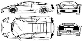 lamborghini gallardo blueprint car blueprints чертежи автомобилей lamborghini