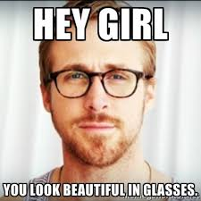 Glasses Meme - hey girl glasses meme girl vs globe