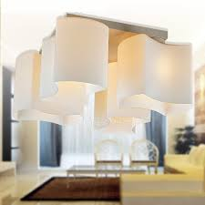 Glass Ceiling Fixture by Style 4 Light Glass Flush Mount Cheap Ceiling Lights