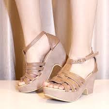 Jual Wedges sepatu wedges savannah coklat size 36 40 harga 300000 sku sd030 kategori sepatu high heels wedges sandal jpg