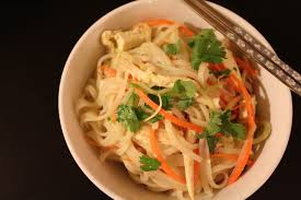 asian chicken and rice noodle salad u2022 hip foodie mom