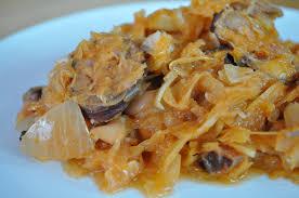 cuisiner la choucroute bigos choucroute polonaise cuisine avec du chocolat ou