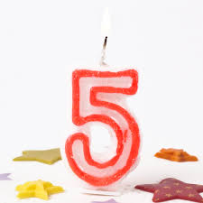 birthday candle pink number 5 birthday candle only 59p