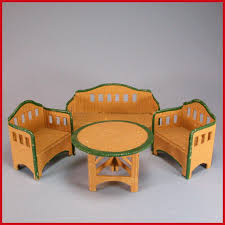 Dolls House Furniture German Dollhouse Korbi Wicker Garden Furniture 4 Pc Set By Karl
