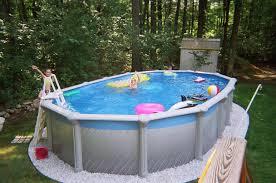 above ground lap pool decofurnish oval above ground pool with backyard landscape idea decofurnish