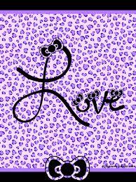 wallpaper hello kitty violet purple cheetah wallpapers group 29