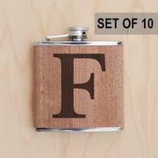Wooden Flasks Monogram Wooden Flask Personalized Initials Groomsman Flask