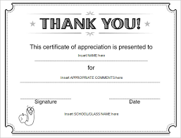 thank you certificate templates free printable certificates of