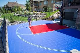 backyard basketball court in draper utah beautiful new snapsports
