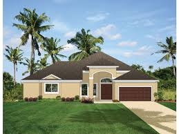 Drawing Of A House With Garage Mediterranean Modern House Plan With 2366 Square Feet And 3
