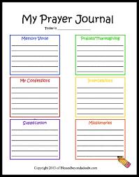 free children s prayer printable homeschool journal and child