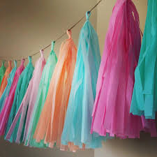 tissue paper decorations pastels tissue paper tassel garland nursery wedding