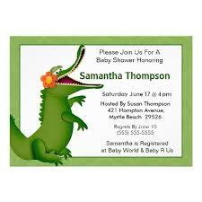 invitations by susan alligator baby shower invitations dancemomsinfo com