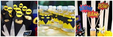 Batman Table Decorations Batman Birthday Party Online Invitations Decor Ideas Fun Snacks