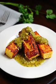 cuisine polenta chicken polenta sticks with tomatillo salsa verde kevin is cooking