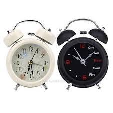 horloge bureau réveil cloche horloge mécanique alarm clock métal avec lumière à