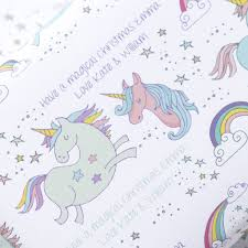 my pony christmas wrapping paper personalised magical unicorn christmas wrapping paper by jin b