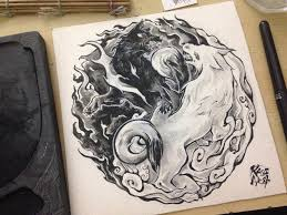 yin yang wolves design by kaos nest on deviantart