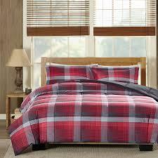 Plaid Bed Set Woolrich Terrytown Plaid Softspun Alternative Comforter Set