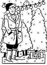 tree coloring page free coloring pages