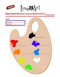 printable colors in spanish printable kids worksheets free