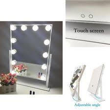 Lighted Makeup Vanity Mirror Aoleen White Hollywood Makeup Vanity Mirror With Light Dimmable