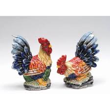 rooster home decor roosters and hen figurines darby creek trading