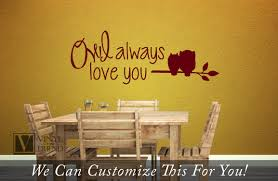 owl always love you with owl on branch a wall decor vinyl