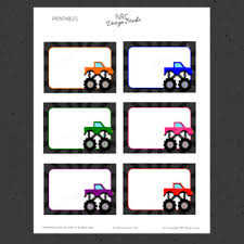 printable monster name tags monster trucks labels name tags classroom decoration
