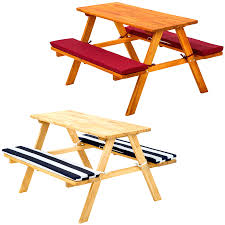 picnic table bench cushions outdoor patio tables ideas folding