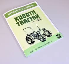 kubota m7030 m8030 operators owners manual diesel maintenance