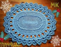 Crochet Oval Rag Rug Pattern Crochet Rug Patterns For Beginners Squareone For