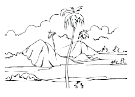 free printable coloring pages for adults landscapes scenery coloring pages cliptext co