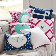 Monogrammed Comforters Lattice Monogram Pillow Cover Pbteen