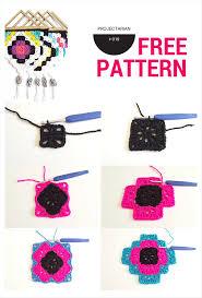 project 019 tribal wall hanging free crochet pattern
