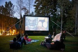 Backyard Projector Screen by Outdoor Movie Screens Outdoor Movies Open Air Cinema