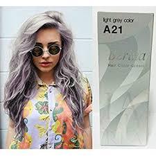 best box hair color for gray hair amazon com pack of 1 box berina light gray hair dye a21 hair