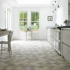 kitchen floor farmhouse kitchen square and rectangle cream tile