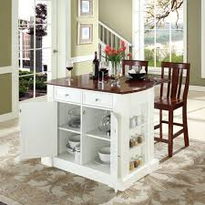 furniture light wood portable kitchen island with seating plus