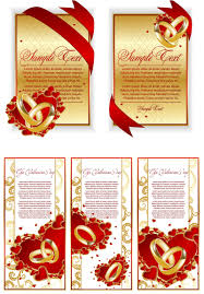 Invitation Card Templates Free Download Wedding Announcement Card Templates Vector Free Stock Vector Art