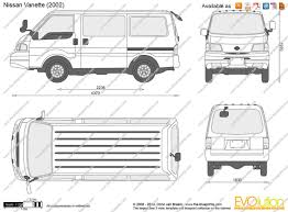 nissan vanette 2013 the blueprints com vector drawing nissan vanette
