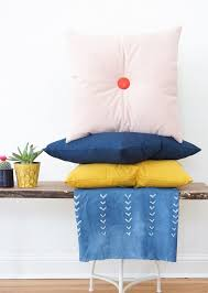 colorful diy tufted pillows sugar u0026 cloth