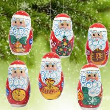 russian christmas ornaments wooden christmas ornaments russian