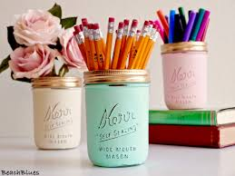 Mint Home Decor Dorm Decor Office Decor Pencil Holder Desk Painted