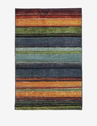 mohawk rainbow multicolored striped rug stage stores